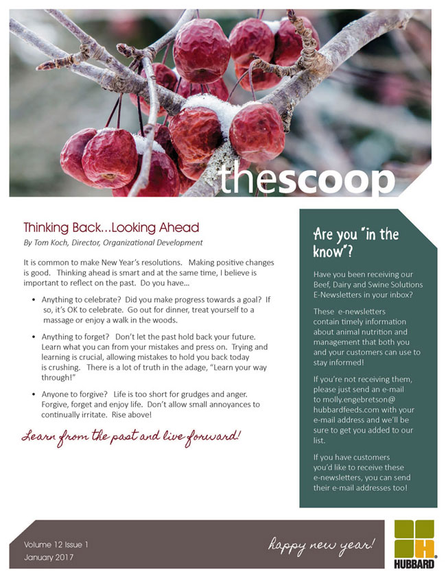 Hubbard - The Scoop E-Newsletter